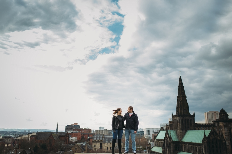 epic-romantic-engagement-east-end-glasgow-alternative-wedding-photography