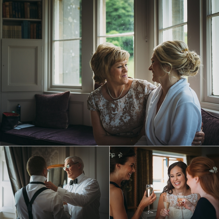 documentary photography of moments taken during bride and groom prep