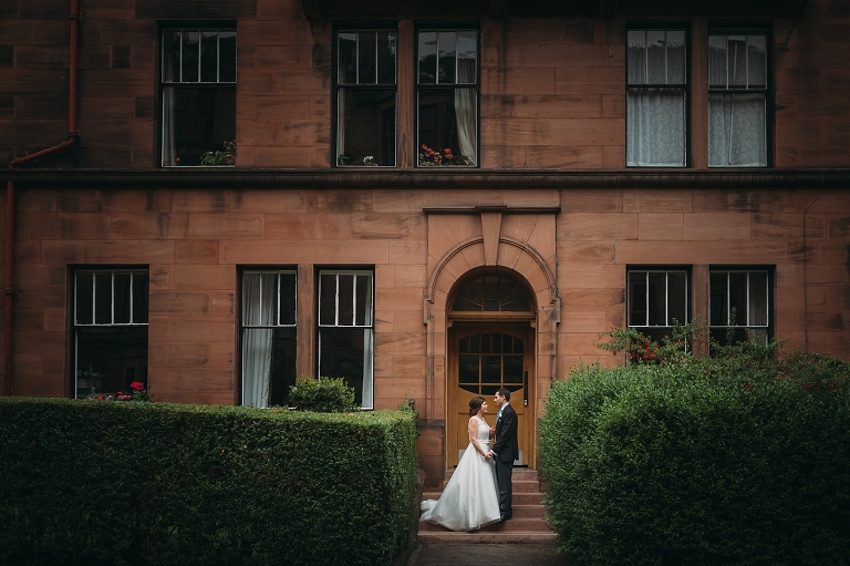 reception timeline - using weather app to know when rain is due to start for couples shoot in glasgow