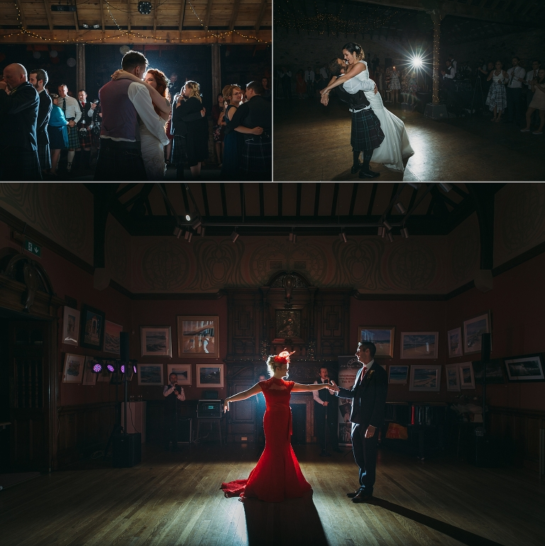 planning your wedding party timeline - images of various first dances - byre at inchyra, kinkell byre, glasgow art club