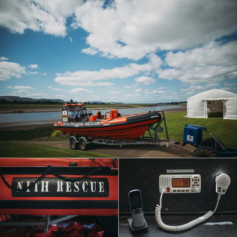 dumfries wedding photographer nith rescue boat