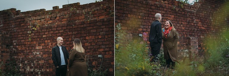 relaxed engagement photography in the East End of Glasgow