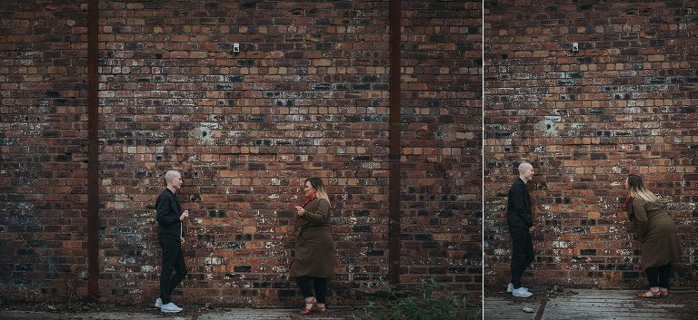 Lots of cool backdrops in the East End of Glasgow including this awesome brick wall