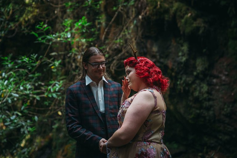 Romantic Middle-earth inspired Scottish Elopement